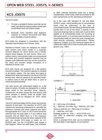 Vulcraft Steel Joists And Joist Girders Catalog